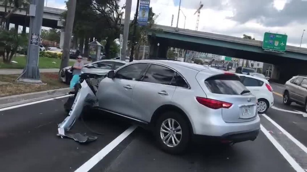 Nothing to see here Just a normal traffic accident in Miami FL